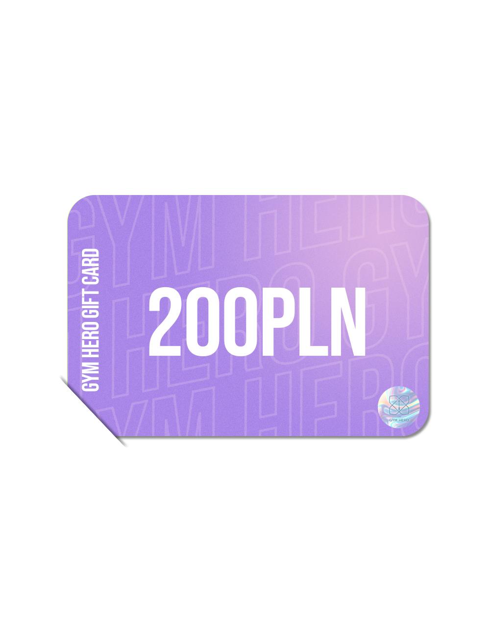 Karta Upominkowa 200zł - Gymhero