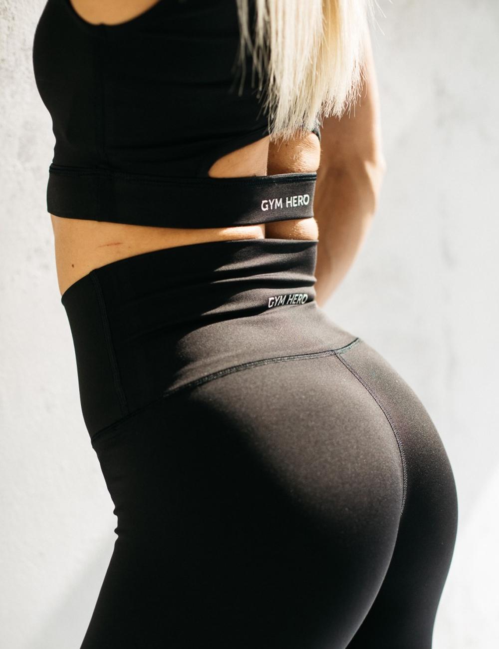 Stanik sportowy BLACK - Gymhero