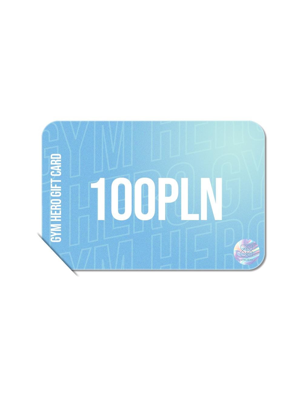 Karta upominkowa 100 zł - Gymhero